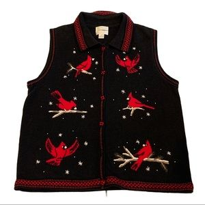 Christopher & Banks Hand Embroidered Sweater Vest